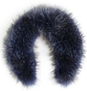 Hanki fur collar - blue