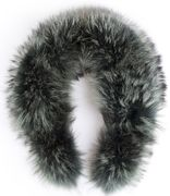 Hanki fur collar - green