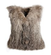 Louhi short fur vest - natural