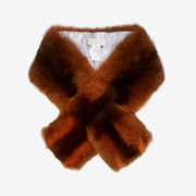 Pine fox fur collar - Orange