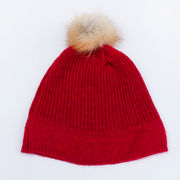 Hiutale wool hat, red