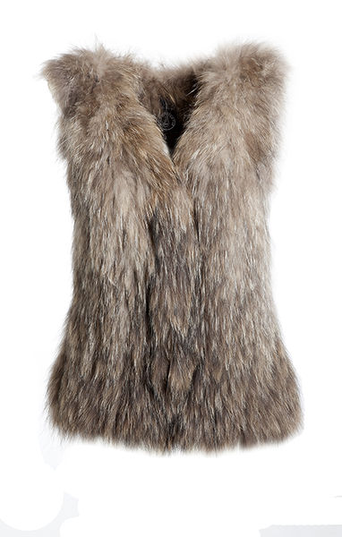 Louhi long fur vest - natural