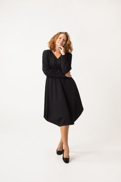 Winterfell Jersey Dress - Ponto Roma Black