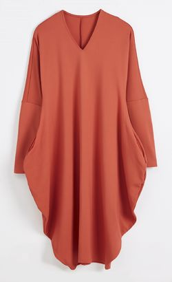 Winterfell Jersey Dress - Ponto Roma Dark Orange