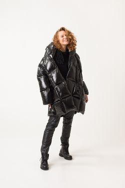 Untamo Down Coat - Glossy Black