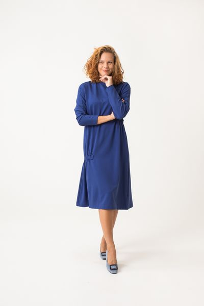Kiuru Jersey Dress - Blue