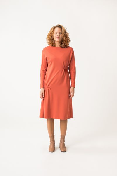 Kiuru Jersey Dress - Dark Orange