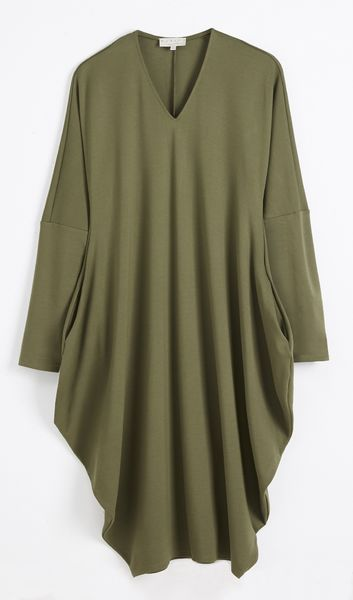 Winterfell Jersey Dress - Ponto Roma Khaki